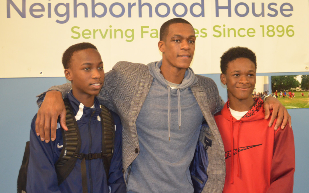 Neighborhood House Receives Surprise Visit From NBA Player, Rajon Rondo Image